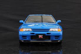 infinity car blue autoart 1 18 nissan skyline gt r r32 v spec ii blue datsun