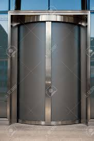 entrance door glass door glass or elevator in business office stock photo picture and
