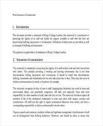statement form in doc commit work statement example 29 statement
