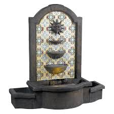 water fountains for home decor kenroy home cascada 45 in outdoor fountain 50721md shops home