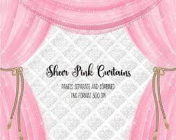 Pink Sparkle Curtains Pink Curtains Etsy
