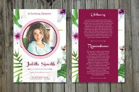 funeral card template funeral program template 5x7 funeral card template