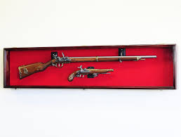Wall Mounted Gun Safe Amazon Com Long Rifle Musket Gun Display Case Wall Rack