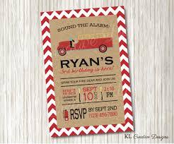 fire truck invitations kl creative designs wedding invitations custom wedding