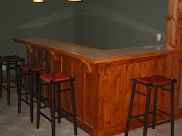 knotty pine bar w marble top