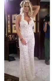 white jumpsuit wedding one of zolciak s three wedding looks was a