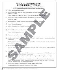 203b checklist for homeowners home improvement package of 50