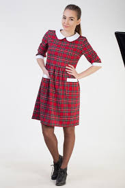 sale christmas red plaid dress women cute womens dress red