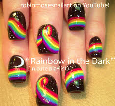 robin moses nail art rainbow animal paw prints super cute