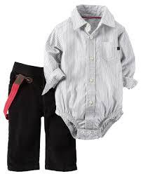 2 piece button front bodysuit u0026 corduroy pant set carters com