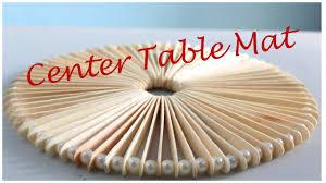 how to make a center table mat from ice cream sticks popsticks i