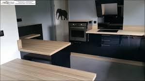 cuisine noir laqué impressionnant cuisine laquee avec cuisine noir et bois mat