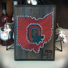 state wood ohio state string on stained wood thee ohio state buckeyes