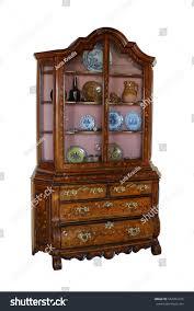 beautiful wooden bureau marquetry on stock photo 542952415