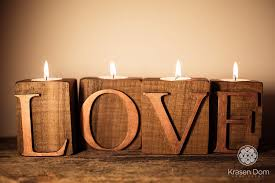amazon com wooden letters love candlestick holders wooden