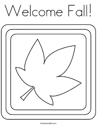 Welcome Fall Coloring Page Twisty Noodle Fall Coloring Page