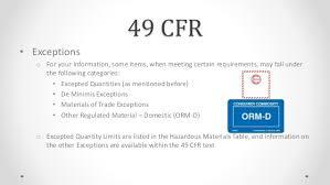49 cfr hazardous materials table hazardous materials certification training part 1