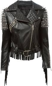 buy biker jacket cesare paciotti stud and fringe biker jacket where to buy how to