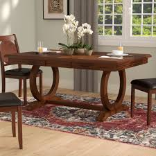 extendable dining room table extendable narrow dining table wayfair