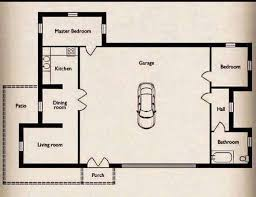Small Home Floor Plans With Pictures Tiny House Floor Plan With Garage Home Deco Plans