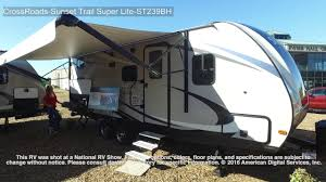 Crossroads Rv Floor Plans by Crossroads Sunset Trail Super Lite Ss239bh Youtube