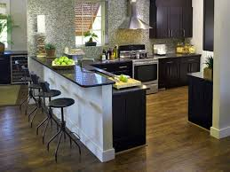 Pictures Of Small Kitchen Islands Interesting Kitchen Designs With Island Black Wooden Breakfast Bar