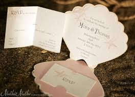 Customizable Wedding Invitations Coastal Finds Custom Shell Shaped Wedding Invitation Inside