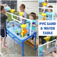 how to build a sensory table how to make a pvc pipe sand and water table water tables pvc pipe