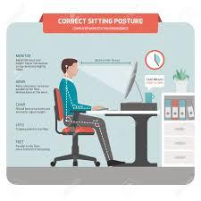 ergonomie bureau ordinateur assise à l ergonomie correcte posture de bureau employé de bureau à
