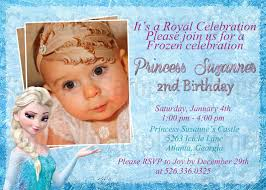 2nd Birthday Invitation Card Personalized Frozen Birthday Invitations U2013 Gangcraft Net