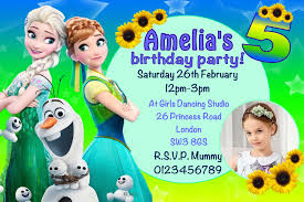10 personalised frozen fever birthday party invitations 7