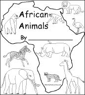 print animal book kids color asante
