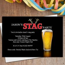 stag do invite 10 personalised stag night party invitations n24