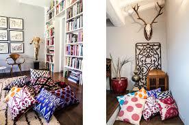 Cushions Velvet Les Ottomans Home Design Gallery Ikat Silk And Velvet Pillows