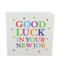 good luck new job glitter good luck in your new job card at