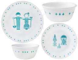 Corelle Dish Sets 16 Pc Corelle Vintage Charm Dinnerware Hostess Set Lunch Bread