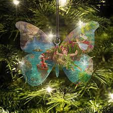 disney kinkade pan butterfly shaped hanging acrylic