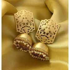 golden ear rings images Gold plated earrings jewellery online peacock earrings online jpg