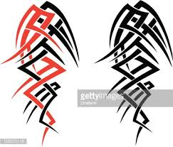 tribal tattoo designs vector art getty images