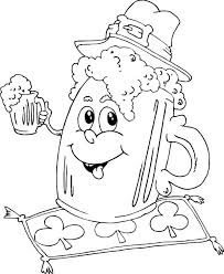 irish mug beer coloring pages place color