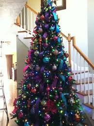 Red White Blue Christmas Decorations by Best 25 Purple Christmas Tree Ideas On Pinterest Purple