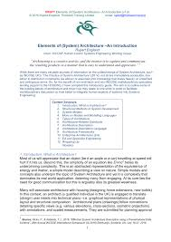 draft elements of system architecture u2013an introduction v1 0