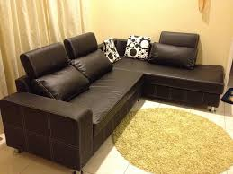Brown Leather Sectional Sofa by Furniture Dark Brown Leather Sectional Sofa With Back Rest Having