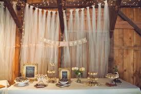 Dessert Table Backdrop by Miss Lovie Fall Wedding Ideas Rustic Dessert Table Inspiration