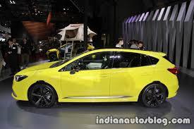 subaru yellow subaru impreza future sport concept 2017 tokyo motor show side