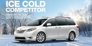 2015 minivan blog why toyota sienna is the best minivan for driving in snow