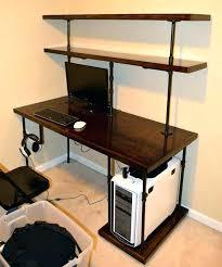 Piranha Corner Computer Desk Corner Computer Desk With Shelves Compact Corner Computer Desk