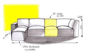 comment dessiner un canapé canapé cubik une exclusivité le point d