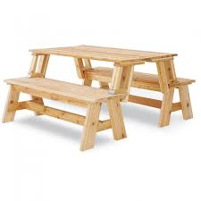Outdoor Wooden Bench Plans To Build by Picnic Table Bench Combo Plan Picnic Tables Woodworking Tools