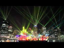 santos glng city of lights brisbane festival 2012 laser light